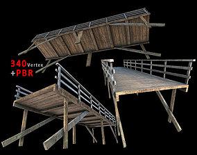 small bridge Pier - PBR Game-Ready 3D asset