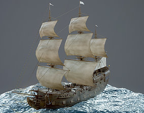 3D model Sailboat Galleon - GameReady
