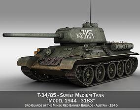 3D model T-34 85 - Soviet medium tank - 3183