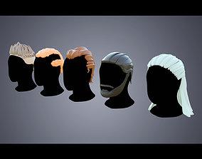 Base Haircuts 46-50 3D asset