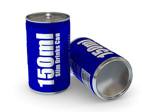 Drinks Can - 150ml Slim 3D asset