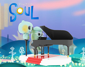 The soul movie pixar 3d model cartoonmovie