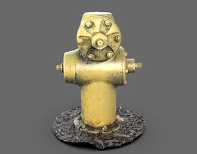 3D model Yellow Fire Hydrant
