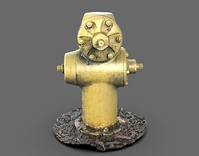 3D model Yellow Fire Hydrant