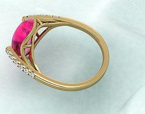 3D printable model sweet Ruby Ring