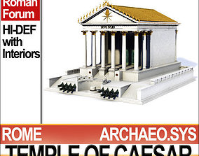 Temple of Julius Caesar Huelsen Type 3D