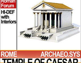 Temple of Julius Caesar Huelsen Type 3D