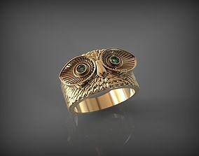 3D print model Owl Ring 1