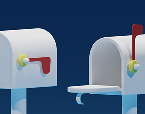 3D model Lovely Cartoon Mailbox