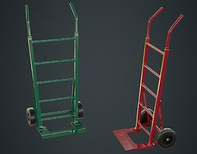 3D model low-poly Hand Truck 2A