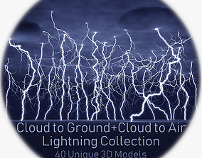 Realistic 3D Lightning Collection 40 CA and CG cloud