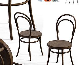 Bent Wood Chair 3D