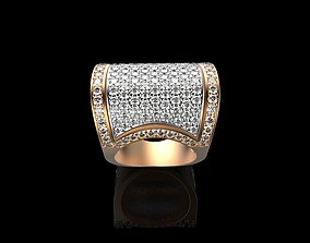 Ornament Diamonds Gold Ring 3D printable model diamond