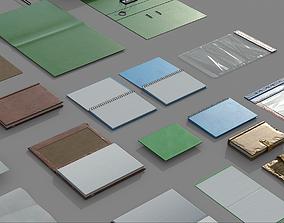 3D asset Paper Items Set 01