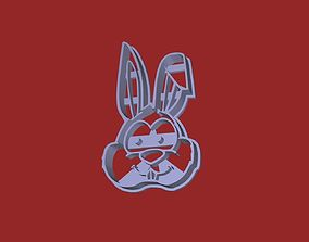 Easter Bunny Face Cookie Cutter 3D printable model