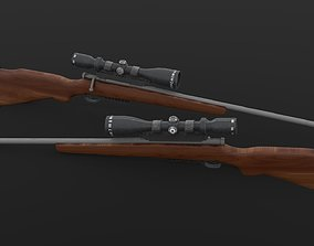 3D asset Hunting Rifle