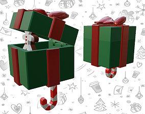 X-Mas Gift Box Wall Mounting Key Holder 3D printable model
