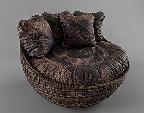 3D model Wicker Arm Chair