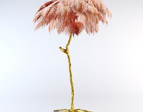 3D model Ostrich Feather Lamp