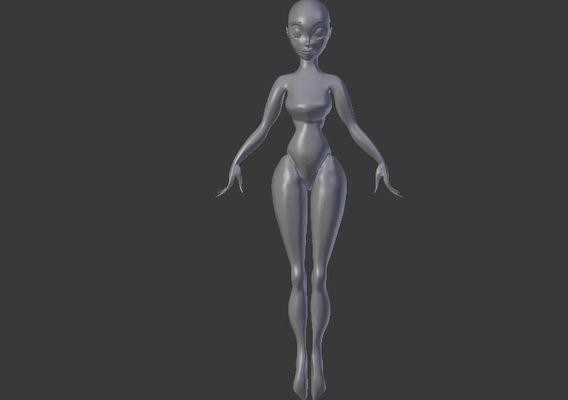 3d female model base