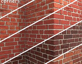 3D model Bricks with corners