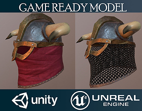 3D model game-ready Helmet 17 with 5 skins