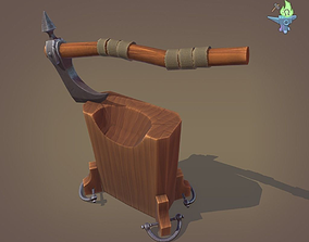 3D model Execution Axe and Chopping block