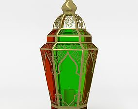 Arabic lamp fanoos tricolor 3D