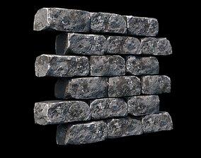 PBR Modular Game-Ready Dungeon Brick Wall 3D model