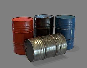 Steel Barrel 3D asset