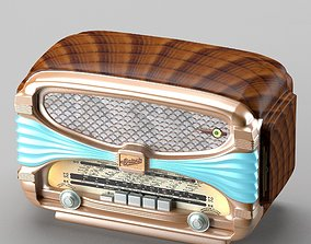 3D model Retro radio in art deco style