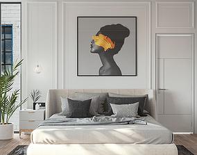 Bedroom minimalist modern 3D model