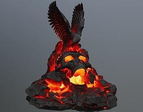 3D model skull gate