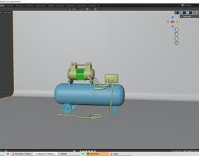 Compressor 3D animated