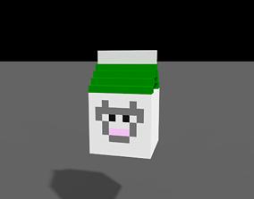 Voxel Milk Set 3D model