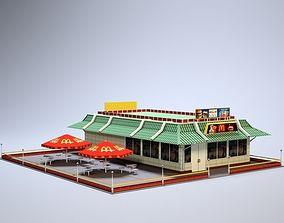 3D model McDonalds McD MacD low poly