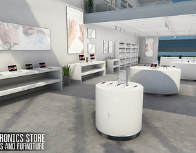 Electronics store - devices and furniture 3D asset
