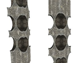 Gatehouse 01 Pillar 04 3D asset