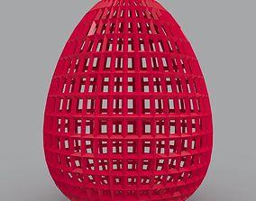 Filigree Egg Geometric Shape 3D Print Model