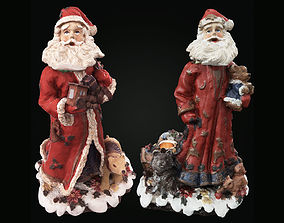 3D Santa Claus figurines PBR with LODs and printable - A-B