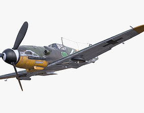 3D model BF-109 German fighter PBR materials low-poly