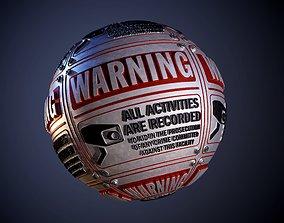 3D model Metal Camera Warning Sign Seamless PBR Texture