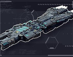 3D asset Stellar Frigate