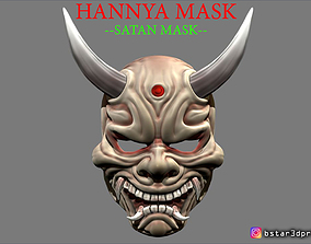 Hannya Mask -Satan Mask - Demon Mask for 3D print model