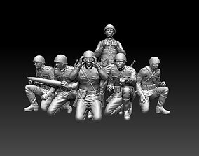 world ussr soldiers 3D print model