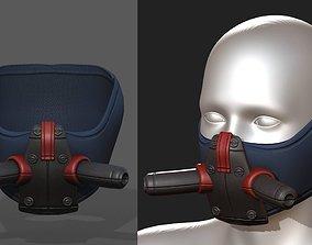 Gas mask respirator scifi futuristic 3D asset game-ready