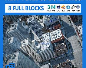 3D asset NYC - 8 Blocks - 68 Buildings V2