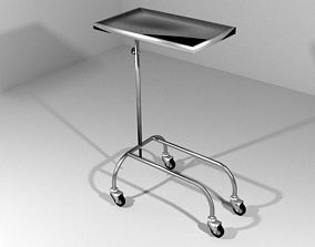3D Hospital Furniture Operation Trolley