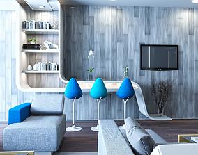 Reception Hall interior scene design 3D model
