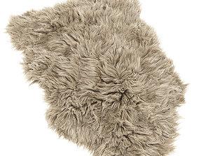 Frost Lux Fur Room Latte Rug 3D